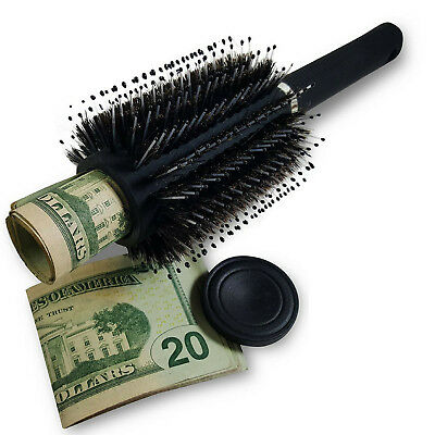 Hidden Container Safe Can Stash It Money Jewelry in Hair Brush Secret Diversion
