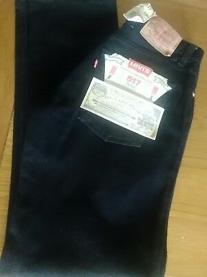 ORIGINAL LEVIS Strauss  517  JEANS W 28 LEG 32 bnwt colour black
