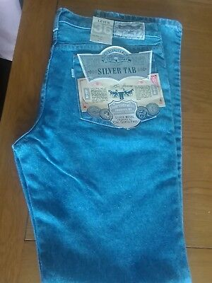 Vintage Original Levis Silver Tab Tight Fit  Jeans W 36 Leg 34