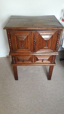Antique Welsh Elm Bible box on stand