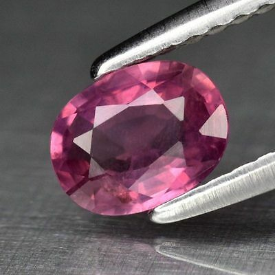 0.68ct 6x4.5mm Oval Natural Pinkish Purple Sapphire Madagascar, Heated Only