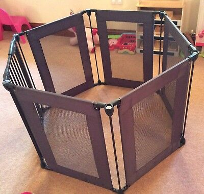 Lindam Grey Fabric Safe And Secure Hexagon Playpen