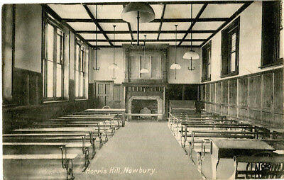 1910s postcard Examination / assembly room Horris Hill NEWBURY Berkshire