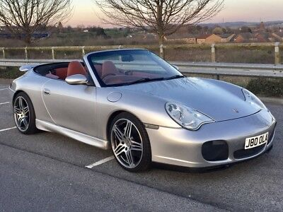 Porsche 911 996 3.6 Carrera 4 * Silver Cabriolet with Red Leather * Turbo looks