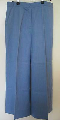 Vintage Blue Flared Trousers 1970s Retro