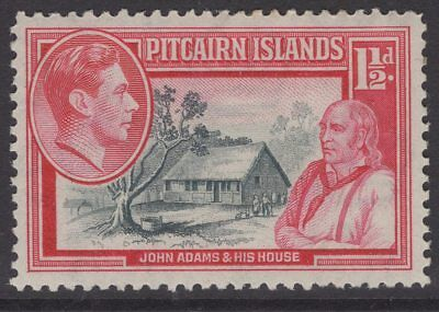 PITCAIRN ISLANDS SG3 1940 1½d GREY & CARMINE MTD MINT