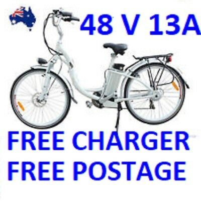 48V  13 Ah  E-BIKE  BATTERY lithium ion bicycle battery with FREE CHARGER