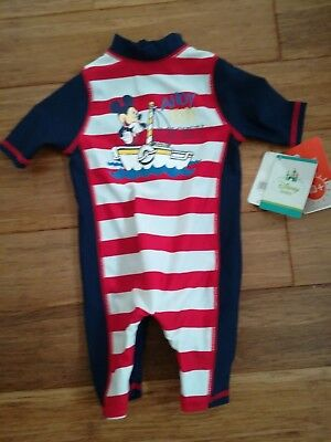 mickey mouse boys swimsuit 0-3 months