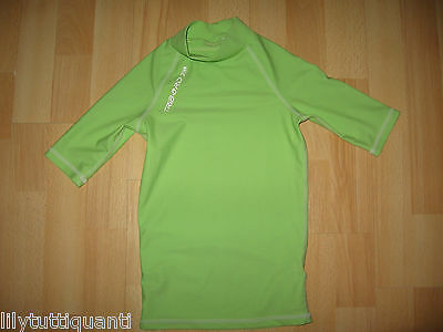 Décathlon Tribord ♥ Top lycra vert anis ♥ Taille 6 ans