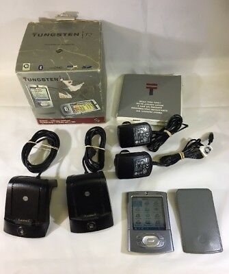 Palm Tungsten T3 PDA WiTh Charger And Two Docks In Original Box