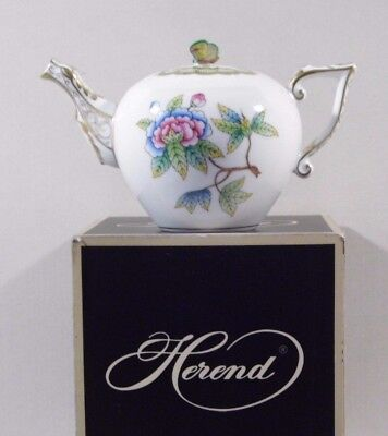 Herend Queen Victoria Miniature Teapot,,brand New Boxed .....