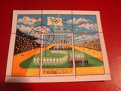 Ras Al Khaima - 1972 Olympics (2) - Minisheet - Unmounted Used Miniature Sheet