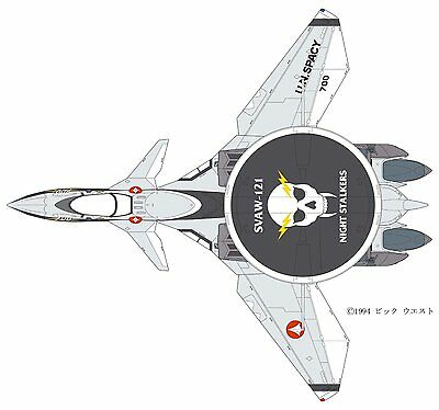 HASEGAWA 1/72 Macross 7 Thunderseeker SVAW-121 Night Stalker VE-11 limited kit
