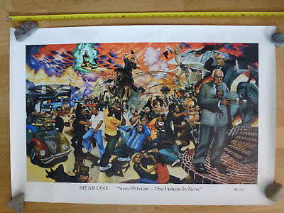 MEAR ONE Limited Edition Poster FUTURE IS NOW HANDNUMBERED: No 188/500 Rare 2002