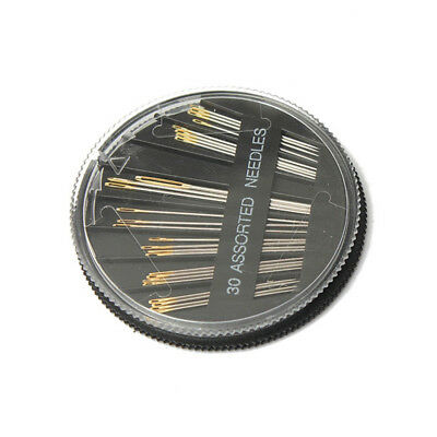 30pcs Assorted Sizes Hand Sewing Needles Embroidery Mending Craft Sew Case F1U2