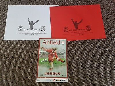 Liverpool v Manchester United King Kenny Dalglish Mosaic and Programme