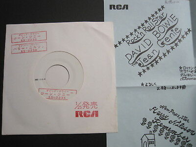 DAVID BOWIE THE JEAN GENIE JAPAN 7inch