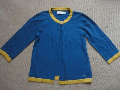 Girls Joules soft cardigan in blue, size 11-12 years