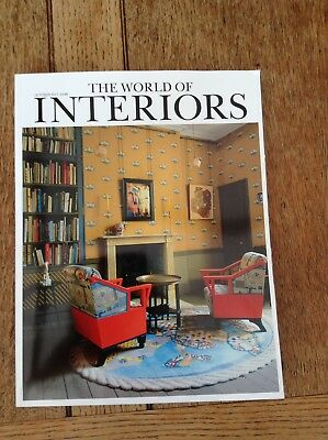 THE WORLD OF INTERIORS  October 2017 GEORGIE HOPTON Jacques Garcia KATE DARBY