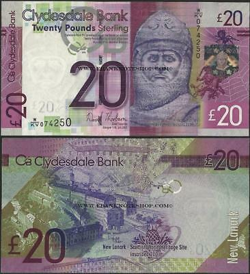 Scotland,P229K,20 Pounds,2013,Clydesdale Bank,UNC,Rober Bruce @ EBS