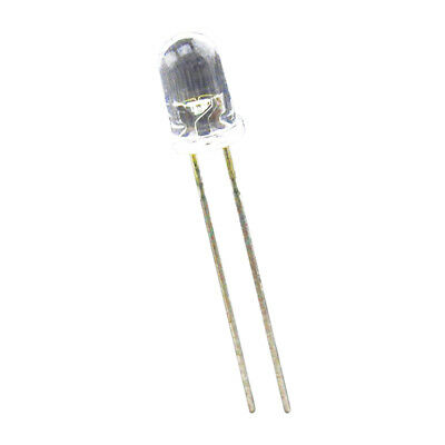 100 pcs 5mm Superbright White Round LED 20000 mcd R2D5 C4V4