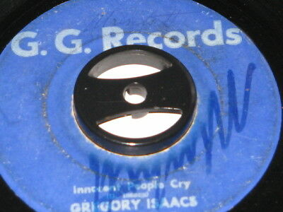 7 inch INNOCENT PEOPLE CRY - GREGORY ISAACS!!!!!!!!!!