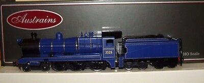NSWGR C3526 Austrains preserved blue steam locomotive go well with CAVES EXPRESS