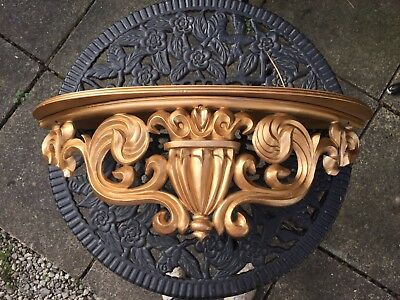Lovely Wall Console Shelf Gold Baroque Reproduction Gold Shelf Ornate Shelf