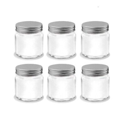 10 Silver Lid Mini Small Glass Jars Party Favours Lolly Jar Wedding Jam 80ml NEW
