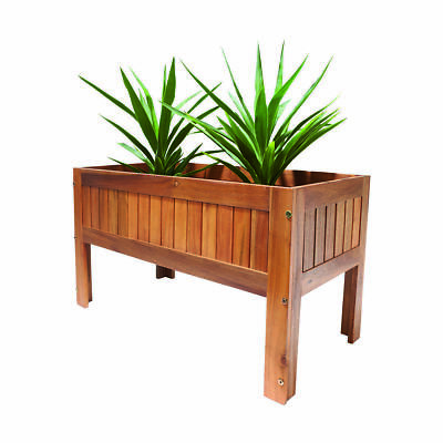 Raised Timber Planter Bed Garden Pot Flower New Box Elevated Natural Wooden Herb