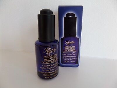 Kiehls Midnight Recovery Concentrate Nightime Facial Oil Skin Care New Unopened