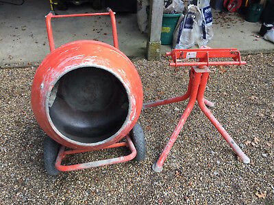 370W Electri Cement Mixer 134L with stand