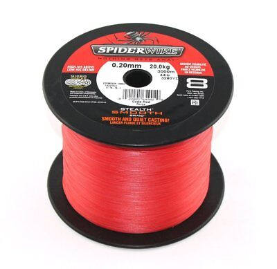 (0,079 €/m) SPIDERWIRE Stealth Smooth 8 Red - je 25m, geflochtene Angelschnur