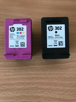 HP 302 Tri Colour And Black Empty Ink Cartridges