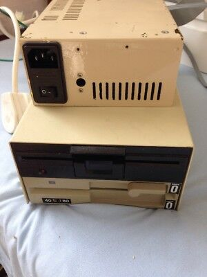 vintage floppy disc drive And Power Pack