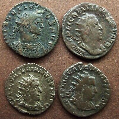 Roman  Imperial; Lot of 4 AE coins; various types.