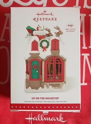 Hallmark 2015 Up On The Housetop Light Sound And Motion Nib Very Rare