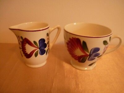 A Very Pretty Vintage T G Green Oakville Pattern Cup & Sml Jug