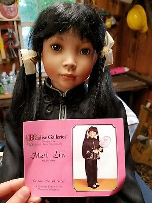 "Linda Mason 30"" Mei Lin porcelain doll paradise galleries REDUCED"