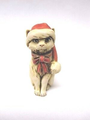 Cat in Santa Hat, Signed Neil Eyre #15, Similar to Harmony Kingdom