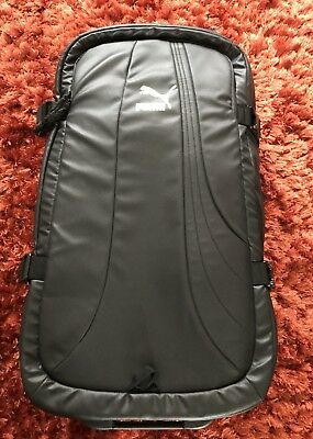 New Puma Heavy Duty Large Hand Luggage Suitcase Black Limited Edition Rare
