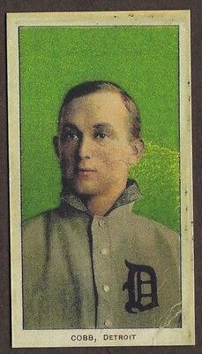 TY COBB Card RP #95 Green Portrait Sweet Caporal Tigers 1909 T2