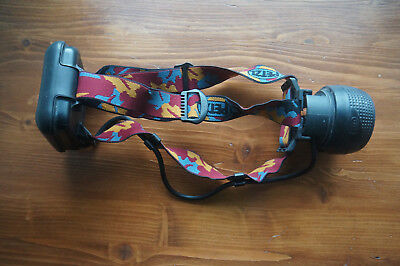 PETZL HEAD TORCH / LAMP WITH 2x 4.5V standard bulb PETZL ZOOM full working order