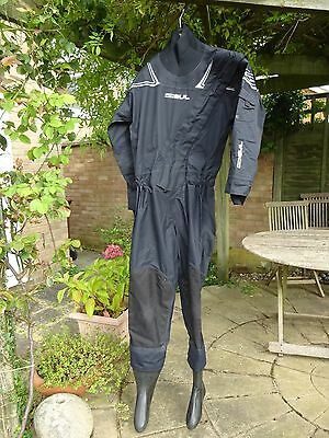 GUL SHADOW FRONT ZIP BREATHABLE MENS DRYSUIT WITH INNER THERMAL FLEECE, small