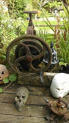 Steampunk/industrial old cast iron mangle/press