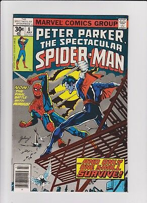 Spectacular Spider-Man  8   VF       high grade!!!