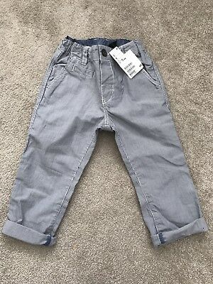 BNWT Boys Blue Stripe H&M Trousers - Size 12-18 months