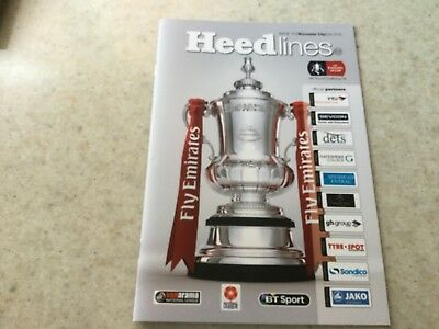 Gateshead FC programme 4th round qualifying round of The Emirates FA Cup