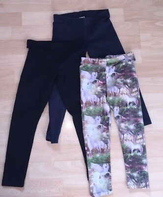 Bundle 3x Girls Leggings 5-6 Years Next Blue Zoo George Unicorn Trousers Tights