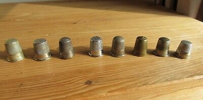 Collection Of 8 Vintage And Modern Thimbles